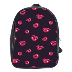 Pattern Of Vampire Mouths And Fangs School Bags(large)  by CreaturesStore