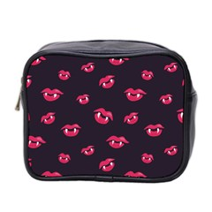 Pattern Of Vampire Mouths And Fangs Mini Toiletries Bag 2 Side by CreaturesStore