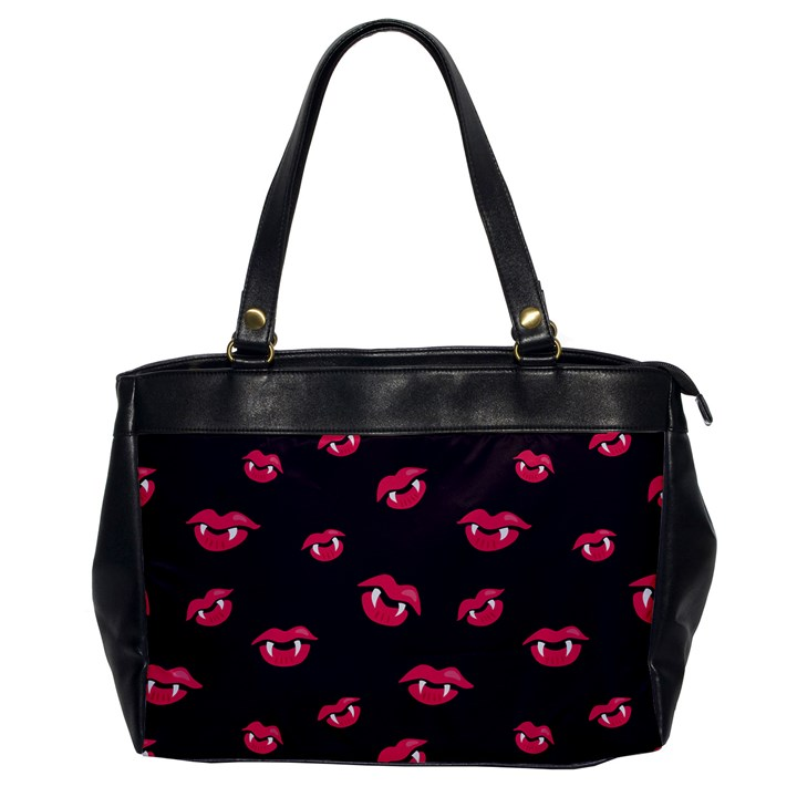 Pattern Of Vampire Mouths And Fangs Office Handbags