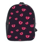 Pattern Of Vampire Mouths And Fangs School Bags (XL)