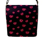 Pattern Of Vampire Mouths And Fangs Flap Messenger Bag (L)