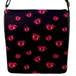 Pattern Of Vampire Mouths And Fangs Flap Messenger Bag (S)