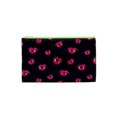 Pattern Of Vampire Mouths And Fangs Cosmetic Bag (xs) by CreaturesStore
