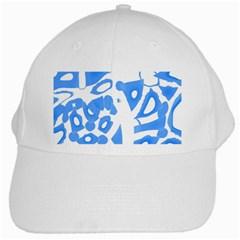 Blue summer design White Cap