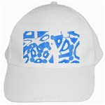 Blue summer design White Cap