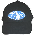 Blue summer design Black Cap