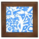 Blue summer design Framed Tiles