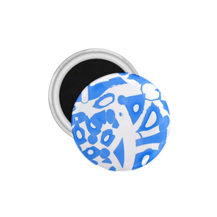 Blue summer design 1.75  Magnets