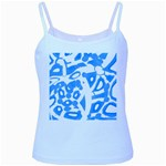 Blue summer design Baby Blue Spaghetti Tank