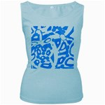 Blue summer design Women s Baby Blue Tank Top