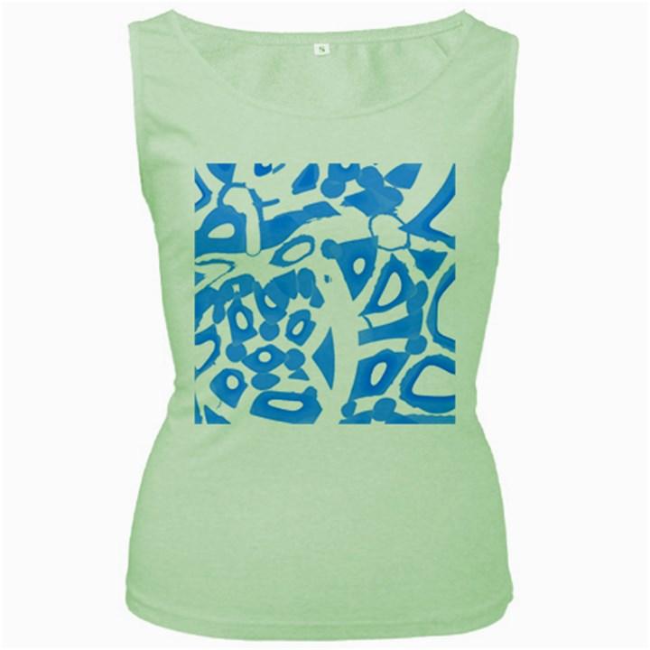 Blue summer design Women s Green Tank Top