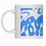 Blue summer design White Mugs