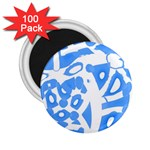 Blue summer design 2.25  Magnets (100 pack)
