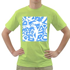 Blue Summer Design Green T Shirt