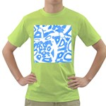 Blue summer design Green T-Shirt