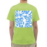 Blue summer design Green T-Shirt Back