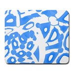 Blue summer design Large Mousepads
