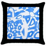 Blue summer design Throw Pillow Case (Black)