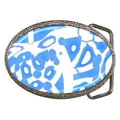 Blue summer design Belt Buckles