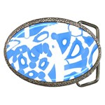 Blue summer design Belt Buckles