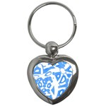 Blue summer design Key Chains (Heart)