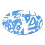 Blue summer design Oval Magnet
