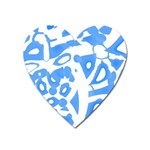 Blue summer design Heart Magnet