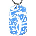 Blue summer design Dog Tag (Two Sides) Back