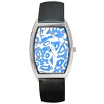 Blue summer design Barrel Style Metal Watch