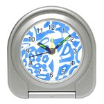 Blue summer design Travel Alarm Clocks