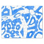 Blue summer design Rectangular Jigsaw Puzzl