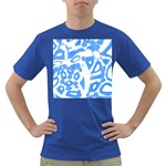 Blue summer design Dark T-Shirt Front