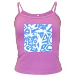 Blue summer design Dark Spaghetti Tank