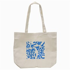Blue Summer Design Tote Bag (cream) by Valentinaart