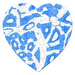 Blue summer design Jigsaw Puzzle (Heart)
