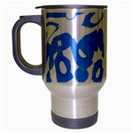 Blue summer design Travel Mug (Silver Gray)