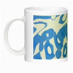 Blue Summer Design Night Luminous Mugs by Valentinaart