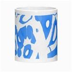 Blue summer design Morph Mugs Center