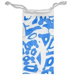 Blue summer design Jewelry Bags Back