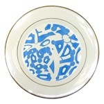 Blue summer design Porcelain Plates