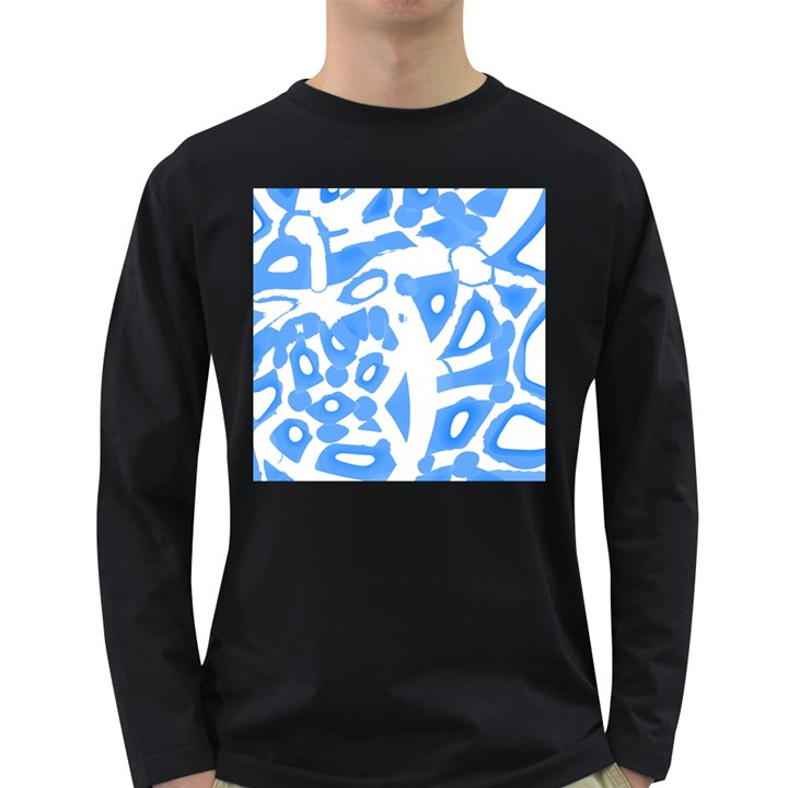 Blue summer design Long Sleeve Dark T-Shirts