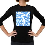 Blue summer design Women s Long Sleeve Dark T-Shirts