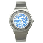 Blue summer design Stainless Steel Watch Front