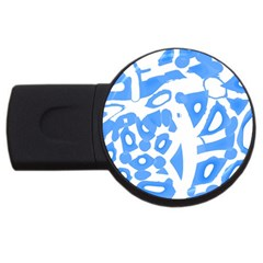Blue Summer Design Usb Flash Drive Round (4 Gb)