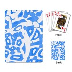 Blue summer design Playing Card