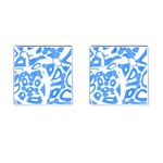 Blue summer design Cufflinks (Square)