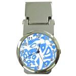 Blue summer design Money Clip Watches
