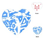 Blue summer design Playing Cards (Heart)
