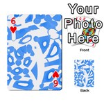 Blue summer design Playing Cards 54 Designs  Front - Heart6