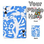 Blue summer design Playing Cards 54 Designs  Front - Club4